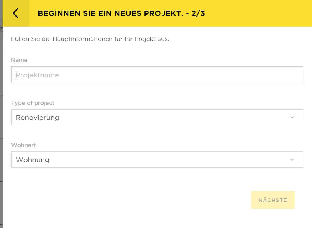 Grundrissplaner-Projekt-anlegen